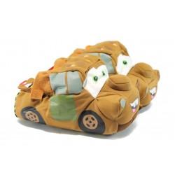 Анатомични детски домашни пантофи ДФ Rally2 кафяв камион 29/35
