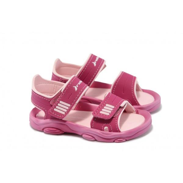 Бебешки сандали с лепенка Rider 81188 розов