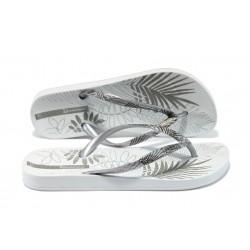 Анатомични дамски бразилски чехли Ipanema 81451 сиво-бял