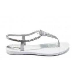 Дамски бразилски сандали Ipanema 81458 сив-бял