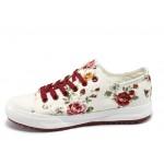 Дамски спортни обувки на цветя Bulldozer 61248 роза