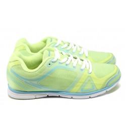 Дамски дишащи маратонки Bulldozer 6097 жълт-син