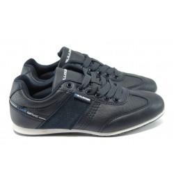 Юношески спортни обувки от естествен верур Bulldozer 6114 т.син