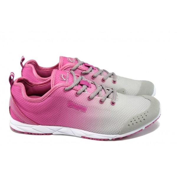 Дамски маратонки Runners 13-06 сив-розов