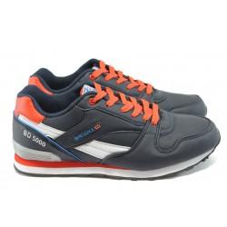Мъжки маратонки МА 6837 т.син-червен