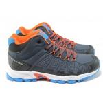 Мъжки спортни обувки Bulldozer 52007 син-оранж