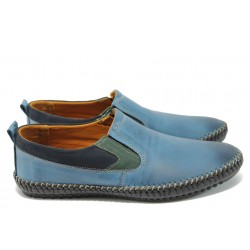 Мъжки ортопедични обувки от естествена кожа МИ 40 син