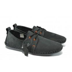Анатомични мъжки обувки от естествена кожа МЙ 83320 черен