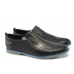 Анатомични мъжки обувки от естествена кожа МЙ 83335 черна кожа