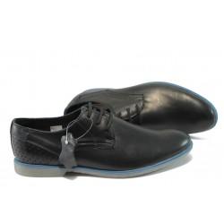 Анатомични мъжки обувки от естествена кожа МЙ 83331 черен