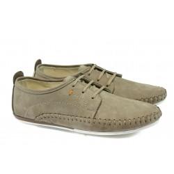 Мъжки ортопедични обувки от естествен набук МЙ 83303 бежов