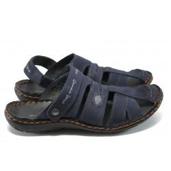 Мъжки анатомични сандали-чехли МЙ 71168 т.син