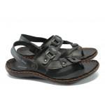 Анатомични мъжки сандали между пръстите МЙ 71172 черен