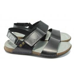 Анатомични мъжки сандали от естествена кожа ГР 744-51 черен