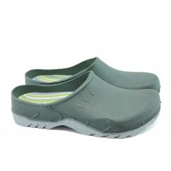 Мъжки гумени чехли ПА 01 зелен