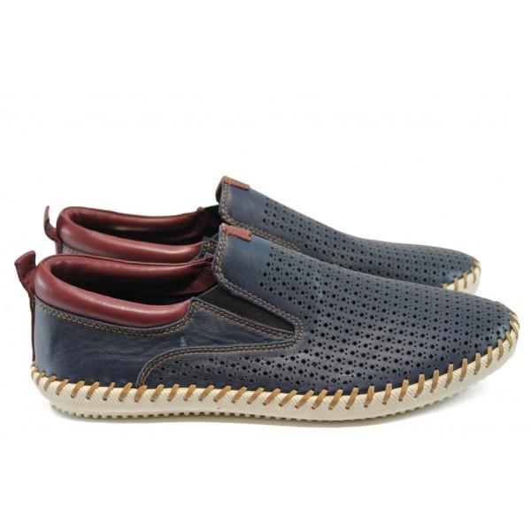 Мъжки обувки /тип мокасини/ Jump 11182 т.син