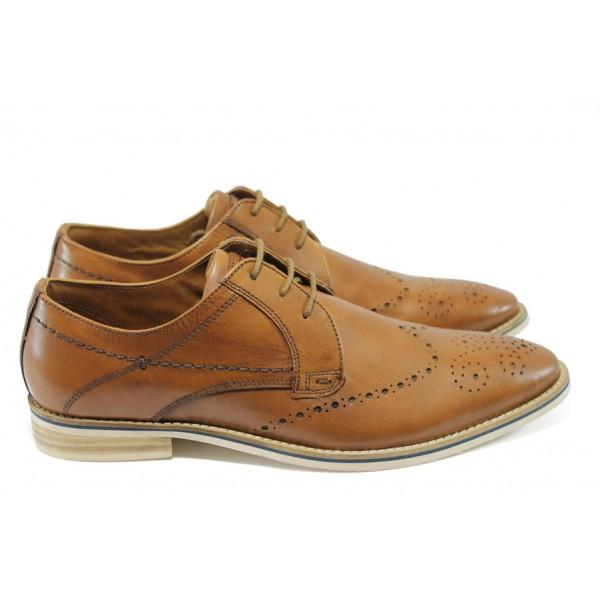 Мъжки спортно-елегантни обувки S.Oliver 5-13202-24 кафяв
