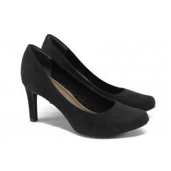 """Дамски обувки на висок ток с """"мемори"""" пяна Marco Tozzi 2-22417-24 черен"""