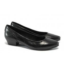 Дамски обувки от естествена кожа Jana 8-22200-24 черен