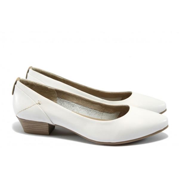 Дамски обувки от естествена кожа Jana 8-22200-24 бял