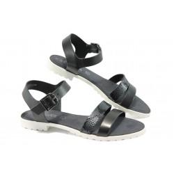 Дамски равни сандали S.Oliver 5-28112-24 черен