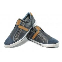 Мъжки спортни обувки от естествена кожа S.Oliver 5-14600-24 т.син