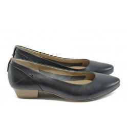 Дамски обувки от естествена кожа Jana 8-22200-24 т.син