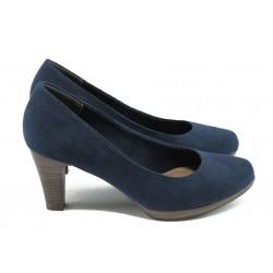Дамски обувки на висок ток Marco Tozzi 2-22445-26 т.син