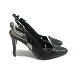 Дамски елегантни обувки на висок ток Marco Tozzi 2-29605-24 черен