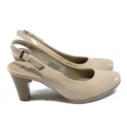 Дамски елегантни лачени обувки Jana 8-29562-24 бежов