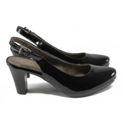 Дамски елегантни лачени обувки Jana 8-29562-24 черен