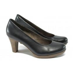 Стилни дамски обувки на ток Tamaris 1-22410-24 т.синьо ANTISHOKK