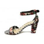 Дамски сандали на висок ток Tamaris 1-28313-24 черни цветя