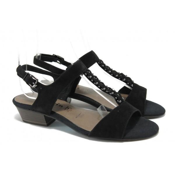 Дамски сандали с мемори пяна Tamaris 1-28203-24 черен ANTISHOKK
