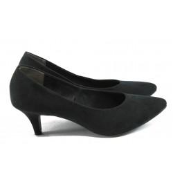 Дамски обувки на среден ток Marco Tozzi 2-22400-24 черен