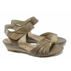 Дамски сандали от естествена кожа Jana 8-28200-24 кафяв