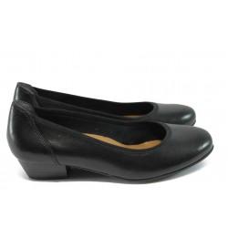 Дамски ортопедични обувки от естествена кожа Jana 8-22202-24 черен