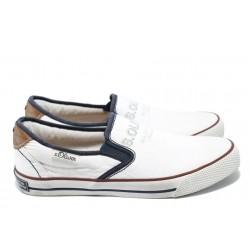 """Мъжки спортни обувки с """"мемори"""" пяна S.Oliver 5-14602-24 бял"""