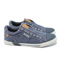 """Мъжки спортни обувки с """"мемори"""" пяна S.Oliver 5-14601-24 син"""