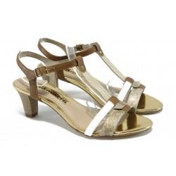 Дамски сандали на среден ток Tamaris 1-28309-24 бежов
