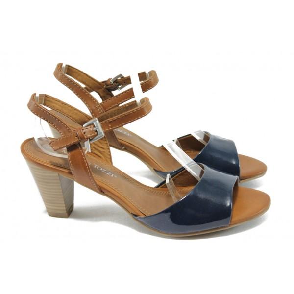 Дамски сандали на ток Marco Tozzi 2-28324-24 син