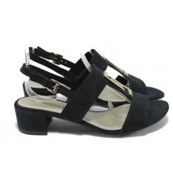 Дамски сандали на среден ток Marco Tozzi 2-28202-24 черен