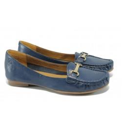 Дамски обувки тип мокасина Caprice 9-24205-24 син
