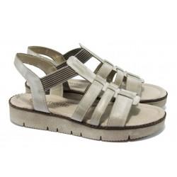 Дамски равни сандали от естествена кожа Remonte R2953-42 бежов