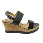Дамски сандали на платформа Tamaris 1-28370-24 черен