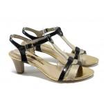 Дамски сандали на среден ток Tamaris 1-28309-24 черен