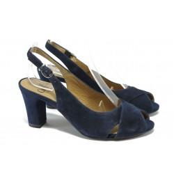 Дамски сандали от естествен велур Caprice 9-29609-24 т.син