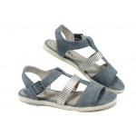 Дамски сандали с мемори пяна S.Oliver 5-28104-24 син