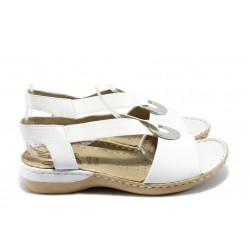 Дамски сандали от естествена кожа Caprice 9-28659-24 бели ANTISHOKK