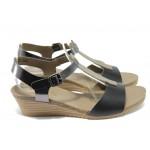 Дамски сандали от естествена кожа Jana 8-28213-24 черен